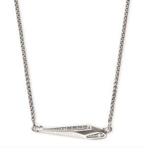 NWT KENDRA SCOTT tabitha necklace pendant rhodium